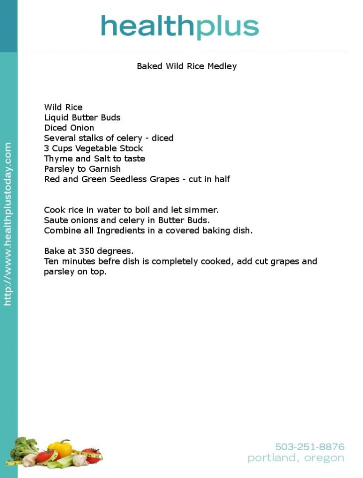 Baked Wild Rice Medley