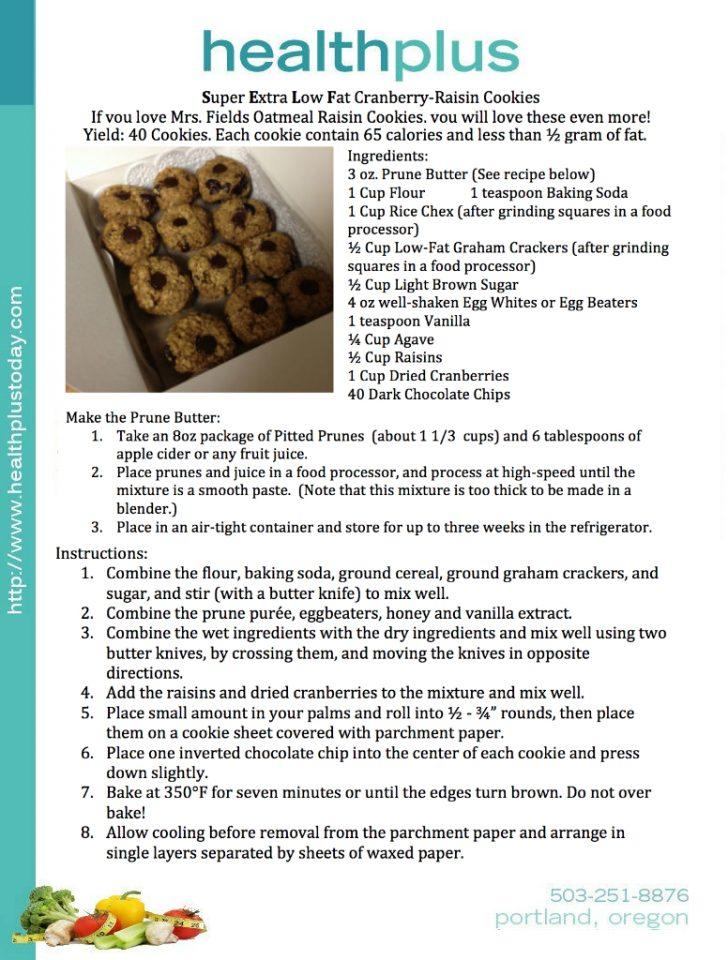 Super Extra Low Fat Cranberry Raisin-Cookies