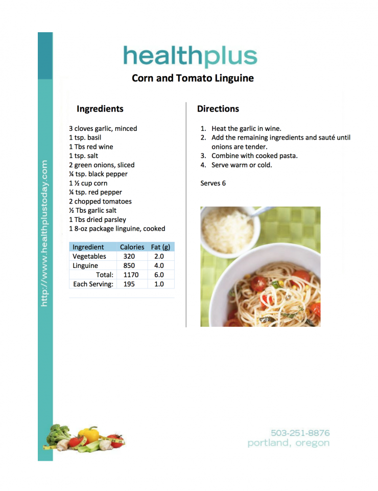 Corn and Tomato Linguine