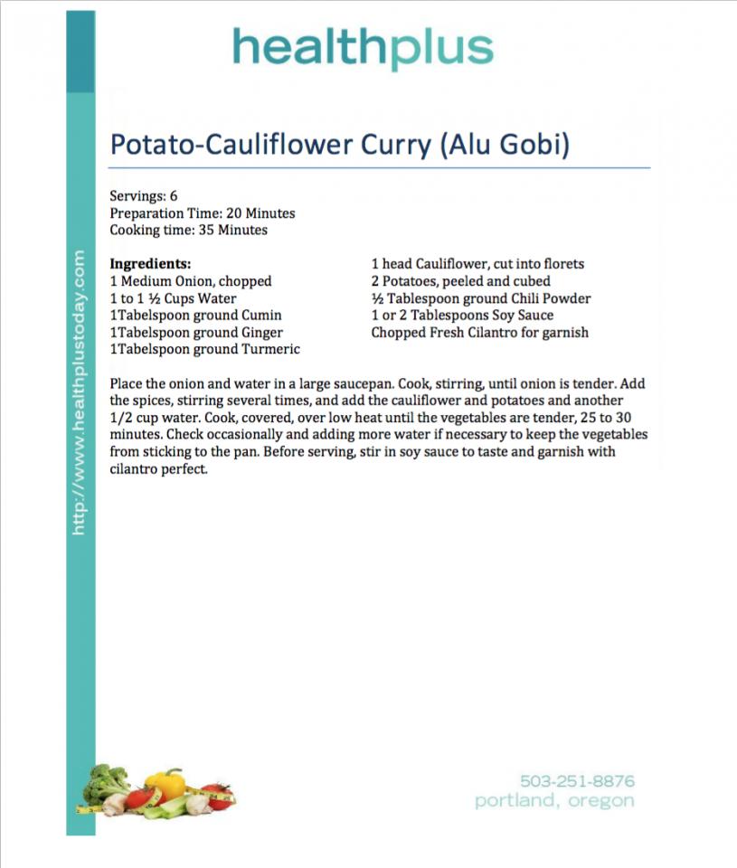 Potato-Cauliflower Curry