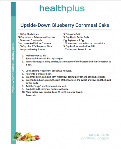 Upside-Down Blueberry Cornmeal Cake
